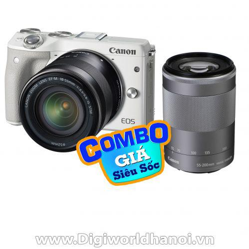 Canon EOS M3 kit 15-45mm STM + EF-M 55-200mm f/4.5-6.3 IS STM