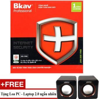 Phần mềm diệt virus Bkav Pro Internet Security + Tặng Loa 2.0 cho PC Laptop