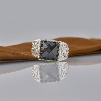 Nhẫn nam đính đá cao cấp Opal RM_01