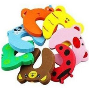 8 pcs EVA Cute Funny Cartoon Animal Door Stop Doorstop for Baby Children Safety Finger Protection - ...