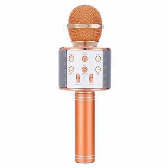Micro hát karaoke Bluetooth 3in1 kèm loa WS-858 (Vàng)