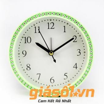 Đồng hồ báo thức King Time đính đá - US003 (Xanh)