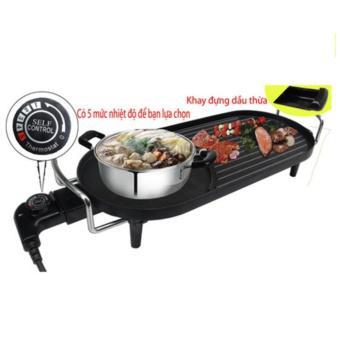 Bếp lẩu kết hợp Nướng điện đa năng 2 trong 1