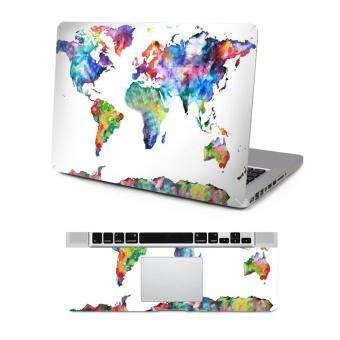 PVC Protective Full Surface Skin Decal Sticker and Palm Rest Cover Sticker for Apple MacBook Pro 15....