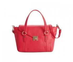 Tommy Hilfiger Postino Leather Convertible Small Top Handle (Tommy Red)