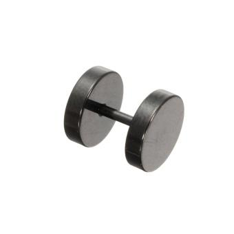 1/2 Pair Men Women Flat Round Punk Plug Ear Clip Barbell Studs Earrings All Size(4mm) Premium qualit...