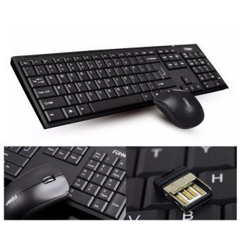 Bộ Bàn phím chuột không dây Fuhlen A120G (Đen)