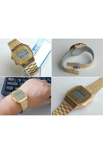 Đồng hồ nam dây thép không gỉ Casio A168WG-9WDF (Vàng)