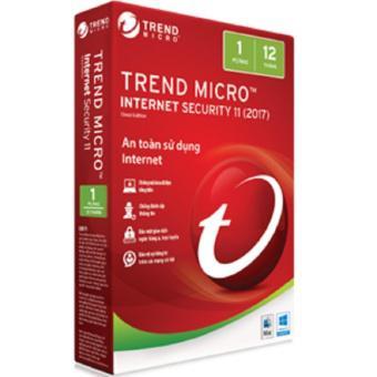 Phần mềm diệt virus Trend Micro Internet Security bản quyền 1 Máy 1 Năm