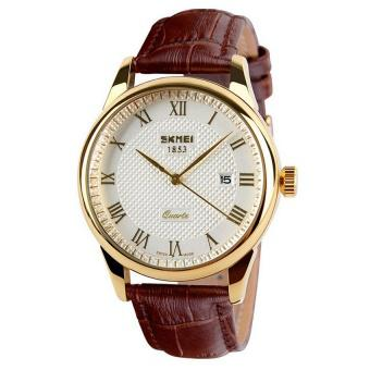 Bộ 1 đồng hồ nam dây da + 1 đồng hồ nam dây kim loại SKMEI + Tặng kèm pin dự phòng PL982 + Tặng kèm ...