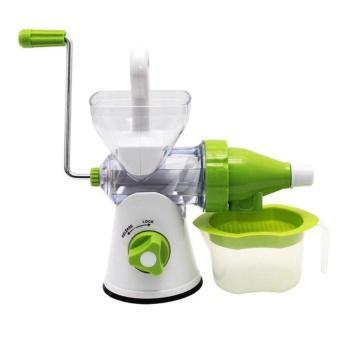 Máy xay ép hoa quả bằng tay đa năng Manual Juicer (Trắng phối xanh lá)