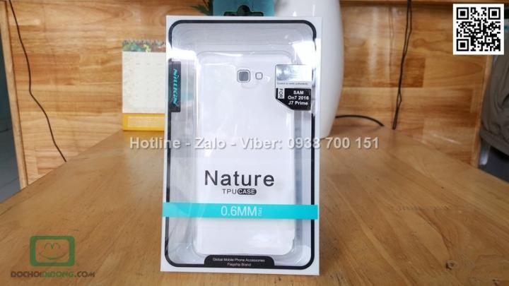 Ốp lưng Samsung Galaxy J7 Prime Nillkin dẻo trong siêu mỏng