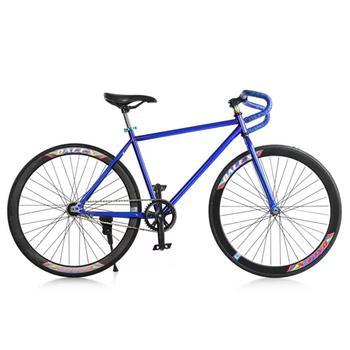 Xe đạp Fixed Gear Single Cổ sừng dê thời trang SportSlink (Xanh dương phối đen) - XDCS_FGS_XANHDUONG...