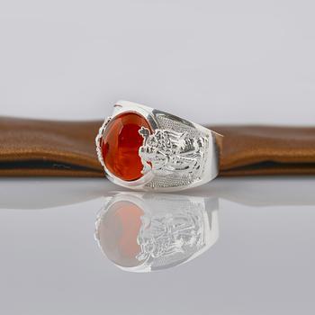 Nhẫn nam đính đá cao cấp Opal RM_05