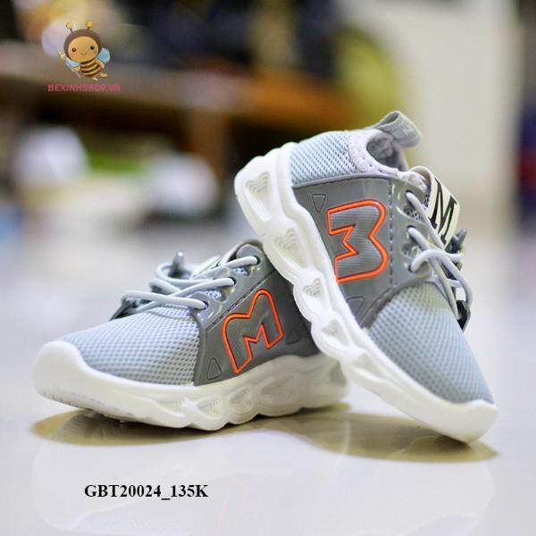 Giày thể theo chữ M XÁM cực dễ thương cho bé GBT20024_135K