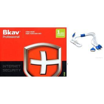 Phần mềm diệt virut Bkav Pro Internet Security tặng kèm cáp sạc 4 đầu