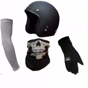 Bộ mũ bảo hiểm cộng găng tay lái xe, găng tay chống nắng và khăn đa năng đi phượt + 1 dao du lịch bỏ...