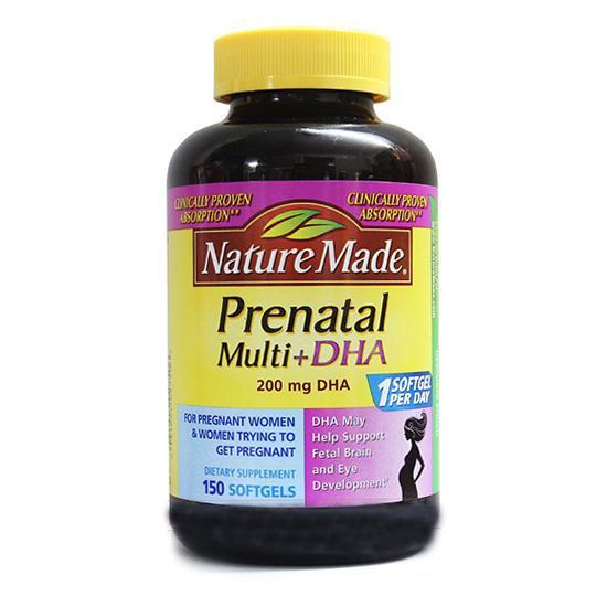 Vitamin bà bầu chứa DHA của Mỹ Nature Made Prenatal 150 viên
