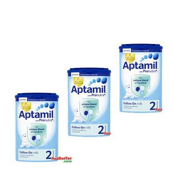 Bộ 3 hộp Sữa Aptamil số 2 900g