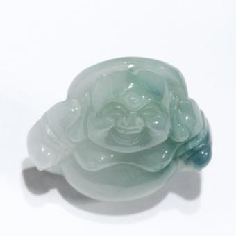 Mặt ngọc Jadeit (Phỉ Thúy), chạm Phật Di lặc – HNJ
