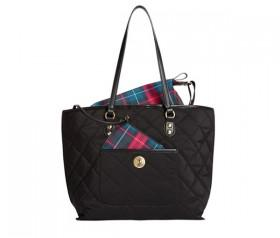 Tommy Hilfiger TH All in One Solid Nylon Shopper (Black)