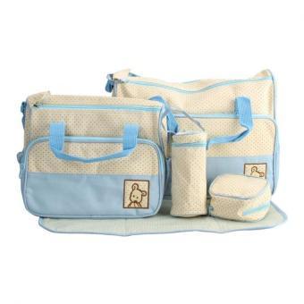 Bộ túi 5 chi tiết cho mẹ và bé (Xanh nhạt)