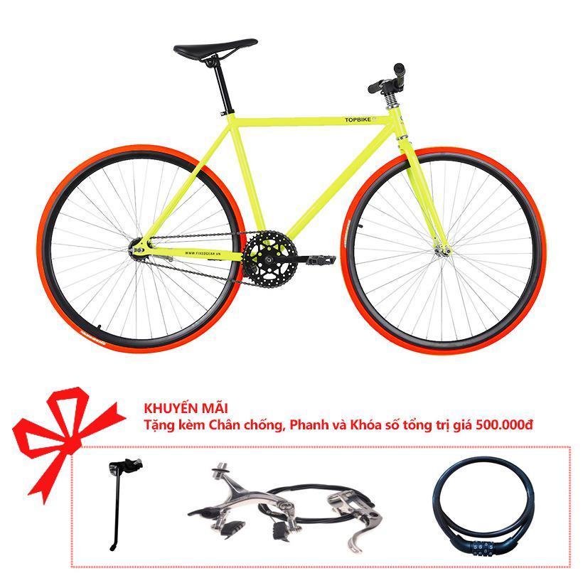 Xe đạp Topbike Alpha khung màu vàng