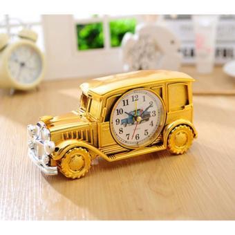 Đồng hồ báo thức - đồng hồ để bàn làm việc (Vàng)