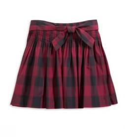 Check plaid spin skirt