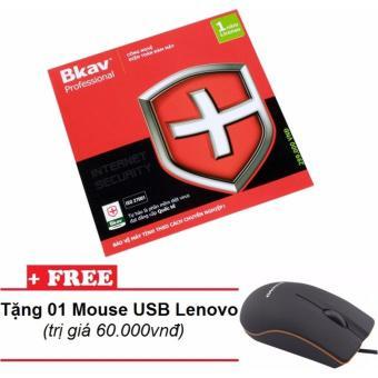 Phần mềm diệt Virus BKAV Pro Internet Security + Tặng 01 chuột Lenovo