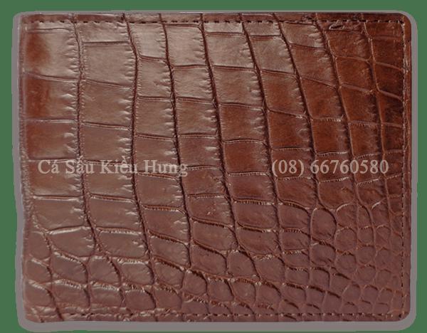 Bóp da cá sấu Kiều Hưng da bụng