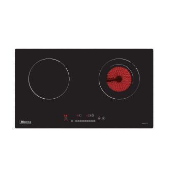 Bếp hỗn hợp một từ một hồng ngoại, mặt kính Vitroceramic BI-277-IC + Tặng miếng chắn dầu mỡ bếp (Đen...