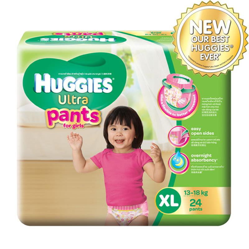 Tã - bỉm quần Huggies Ultra XL24 cho bé gái