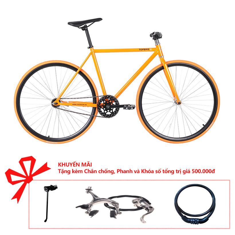 Xe đạp Topbike Alpha khung màu cam