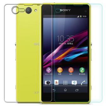 Bộ Kính cường lực 2 mặt trước sau cho Sony Xperia Z5 compact H0009 (Trong suốt)-Hàng nhập khẩu
