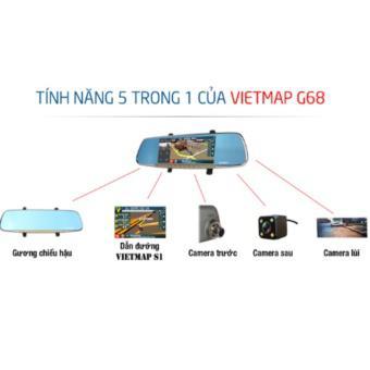 Camera hành trình + Dẫn đường Vietmap G68 + Thẻ nhớ 16gb