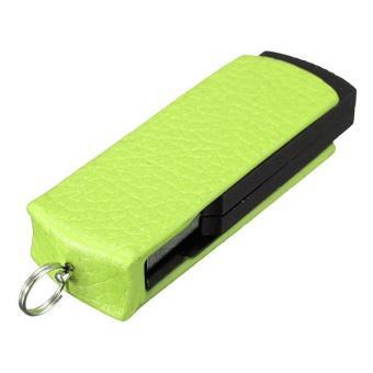 Leather Swivel 16GB USB 2.0 Flash Memory Stick Pen Drive Storage U-Disk QH (Brown) - Intl