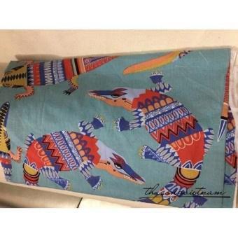 Vải thô cá sấu họa tiết