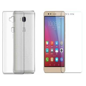 Bộ ốp lưng silicon dùng cho Huawei GR5 / Honor 5X ( Trắng ) + Kính cường lực 2.5D