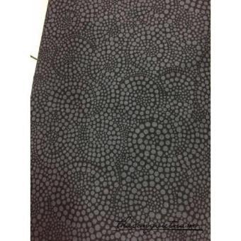 Vải thô chấm bi xám xoáy nền đen