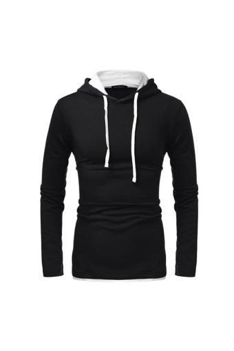Autumn Men Sweatshirt 2016 Fashion Hooded Sportswear Solid Slim Fit Hoodies Sweatshirts Plus Size Pu...