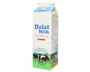 Sữa Tươi Thanh Trùng Đà Lạt không đường 1L