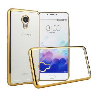 Ốp lưng Silicon cho Meizu M3 Note (Trắng viền vàng)