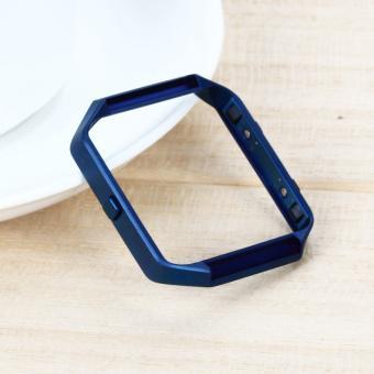 Polished Stainless Steel Metal Frame Holder Shell for Fitbit Blaze - Intl