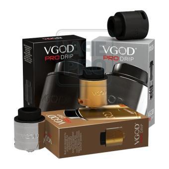 Buồng đốt Vgod Pro Drip RDA (Silver) tặng 1 lọ tinh dầu New Liqua 10ml vị Thuốc lá nhẹ
