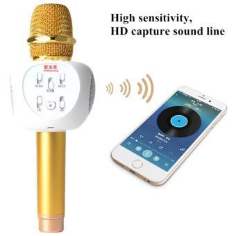 Micro Hát karaoke Bluetooth ZBX - 66 Thế Hệ Lọc Âm Mới Nhất ( Gold ) Hàng Nhập Khẩu + Kẹp điện thoại...