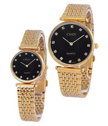 Đồng hồ cặp thời trang - Đen