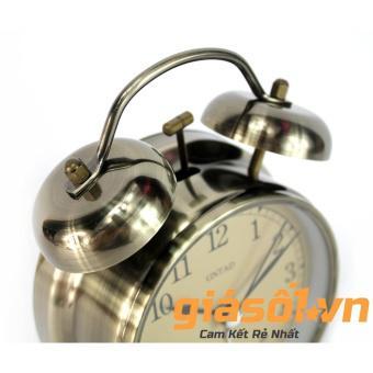 Đồng hồ báo thức Clock - 6040 (Vàng nhạt)