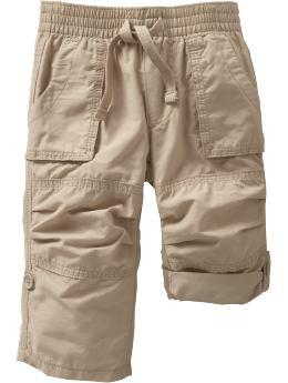 Twill Pull-On Roll-Up Pants for Baby