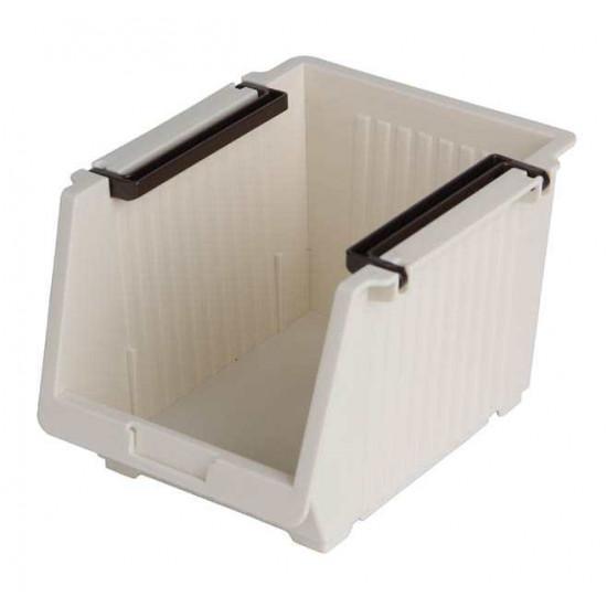 Giá mini để đồ tiện lợi 10.5x13.5x9.5cm Niheshi 6173 hàng Nhật (Trắng sữa)